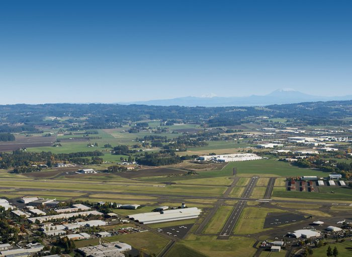 Hillsboro International Airport aerial view