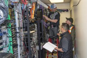 Viking team working wires