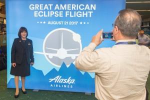 Alaska Airlines Eclipse Flight